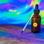Bottle of diluted LSD used for microdosing